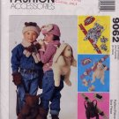 McCall's Kids Plush Bear or Bunny Back Pack, Hat, Mittens and Scarf Pattern UNCUT 9062