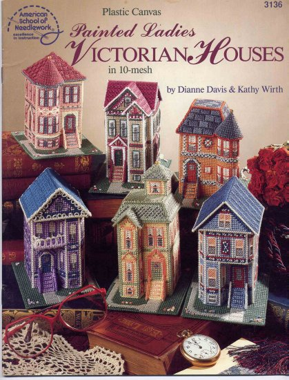 Painted Ladies Victorian Houses in Plastic Canvas Pattern Book