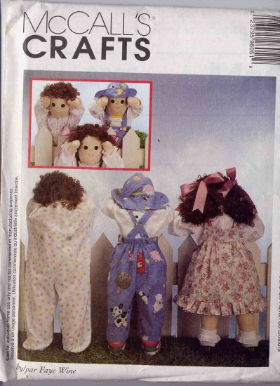 49 Cent SALE! McCall's Toddler Time Out Doll Pattern UNCUT 9605