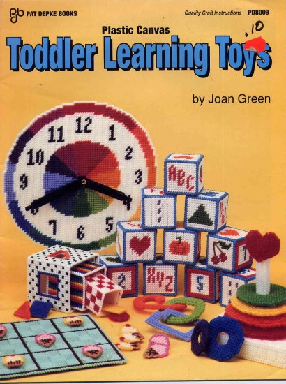 49 Cent SALE! Plastic Canvas Toddler Learning Toys Pattern Booklet