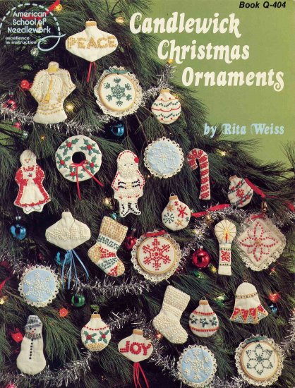 49 Cent SALE! Vintage Candlewick Christmas Ornaments Pattern Book 30 Designs