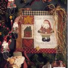 Primitive Santa and Teddy Bear Doll, Ornaments and Wall Quilt Patterns, Blooming Creations Book 7