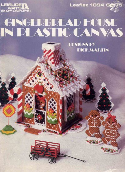 10 Quot Gingerbread House In Plastic Canvas Christmas Pattern