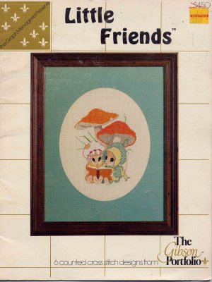 Little Friends Mice Cross Stitch Pattern Book Vintage Cute Mouse Designs