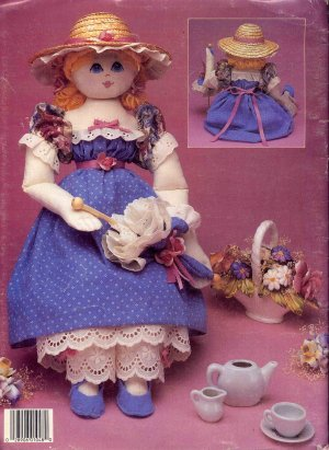 Lorna�s Dolls Victorian Style Rag Dolls Vintage Leisure Arts 1048 Full Size Sewing Pattern Book