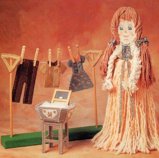 Labors of Love Mop Dolls Plastic Canvas Annie's Attic Pattern Apple Pie