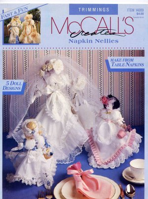Napkin Nellies Lace Trimmed Cloth Napkin Dolls Decorations Weddings by McCall�s Creates