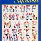Vintage Clown Alphabet Cross Stitch Pattern Booklet