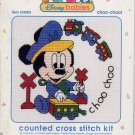 Mickey Mouse Choo Choo Cross Stitch Kit Disney Babies 4.5 x 4.5