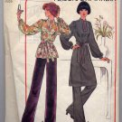 Vintage 70s Mandarin Collar Tunic and Pants Sewing Pattern Simplicity 7714--Bust 31.5-32.5
