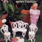 Plastic Canvas Fashion Doll Garden Furniture Craft Pattern Annies Attic Barbie Chairs Table Loveseat