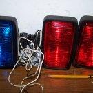 3 Rectangular Lights- 2 Red- 1 Blue ~ Firetruck ?