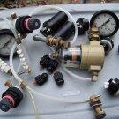 Lot of Small Pneumatic Valves Dryer Gauges Dampers etc