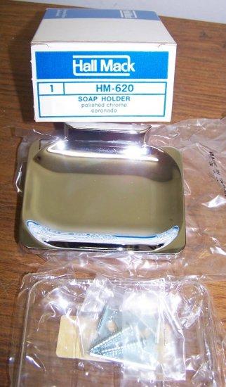 NIB Hall-Mack Coronado HN-620 Soap Dish & Insert ~Vintage Chrome