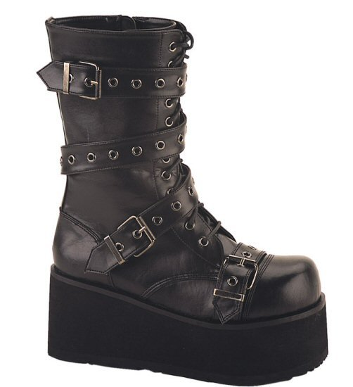 Trashville - Men's Ankle Boot with Wrap Around Buckle