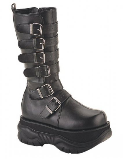 Neptune - Men's Knee High Rubber Soled Buckled Boots