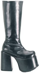 Chopper - Men's Knee High Goth Boot with Platform Heel