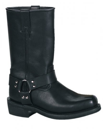 Men's Leather Harness Motorcycle Boots