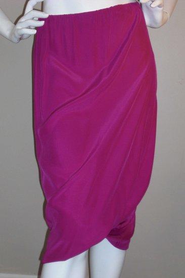 NWT Twelfth Street by Cynthia Vincent fuschia skirt! 100% Silk