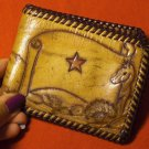 AMAZING HAND MADE CARVED LEATHER BILLFOLD!