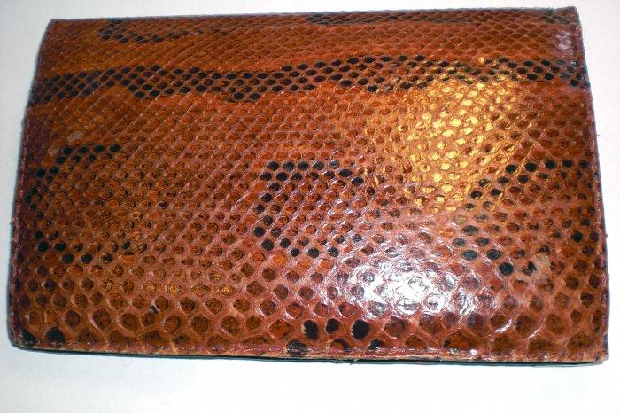 Vintage Snake Skin Brown Clutch/Purse/Handbag! Leather