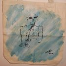 Sax Man Hand Painted Tote