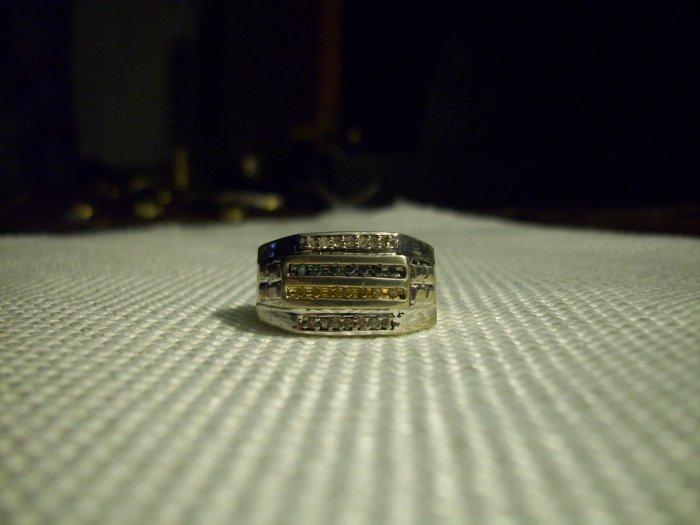 Diamond Ring (Blue/White/Yellow diamonds)