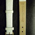 Genuine Croco-Calf WHITE, Women's Watchband SIze 12mm
