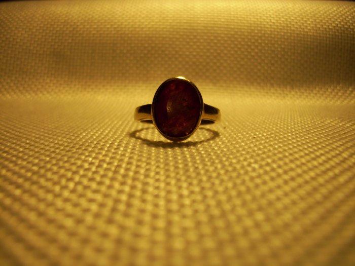 4.94ct Oval Burmese Ruby Handmade Ring
