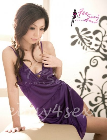 New Fee Sexy High Quality Lace Satin backless Babydoll lingerie Women Lingerie Nigthwear FS04