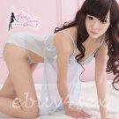 Fee Sexy High quality gauze babydoll lingerie lady underwear women sleepwear nightwear G string FS76