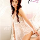 Fee Sexy High quality gauze lace babydoll lingerie lady underwear women sleepwear G string FS84