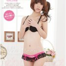 Alio Moon Best quality sexy sweet lace babydoll 2 pieces Lolita black pink underwear AM47