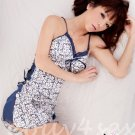 Fee Sexy High quality printed satin babydoll lingerie ladies women sleepwear nightwear FS145