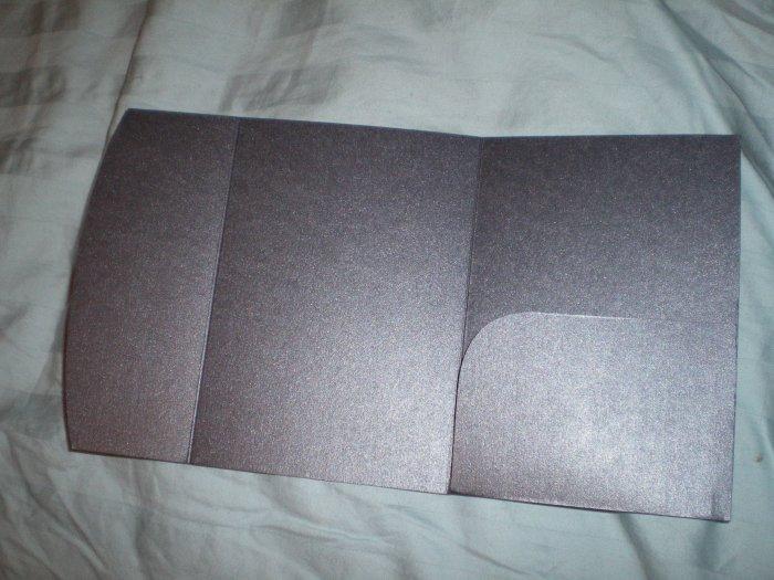 Black Pocket Fold Invitation Jackets