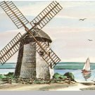 CAPE COD, MASS/MA POSTCARD,Windmill at Bass River