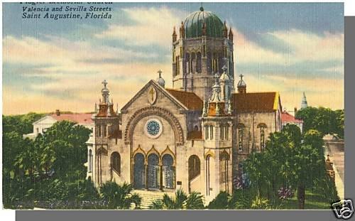 ST. AUGUSTINE, FLORIDA/FL POSTCARD, Flagler Church