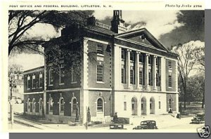 Early LITTLETON, NEW HAMPSHIRE/NH POSTCARD, Post Office