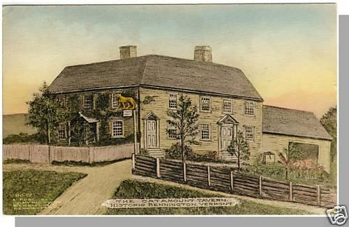 BENNINGTON, VERMONT/VT POSTCARD, Catamount Tavern,1929!