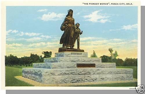 Nice PONCA CITY, OKLAHOMA/OK POSTCARD, Pioneer Woman
