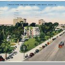 LONG BEACH, CALIFORNIA/CA POSTCARD,Civic Ctr/Lincoln Pk