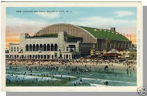 ATLANTIC CITY, NEW JERSEY/NJ POSTCARD, Convention Hall