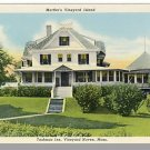 MARTHA'S VINEYARD, MASS/MA POSTCARD ,Tashmoo Inn, Cape
