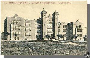 ST. LOUIS, MISSOURI/MO POSTCARD, Yeatman High School