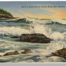 BAR HARBOR, MAINE/ME POSTCARD, Sand Beach/Great Head