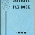 1965 SCITUATE, RHODE ISLAND/RI, Vintage Tax Book