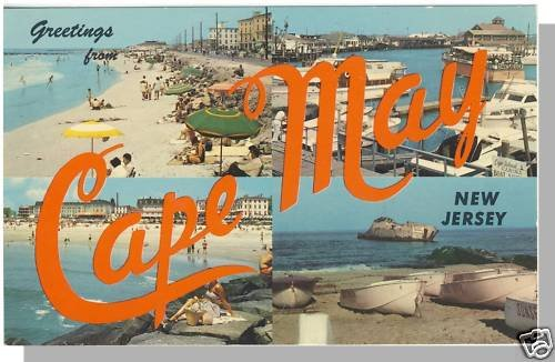 CAPE MAY, NEW JERSEY/NJ POSTCARD, Multi-View Greetings