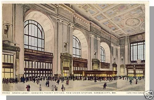 KANSAS CITY, MISSOURI/MO POSTCARD, New Union Station