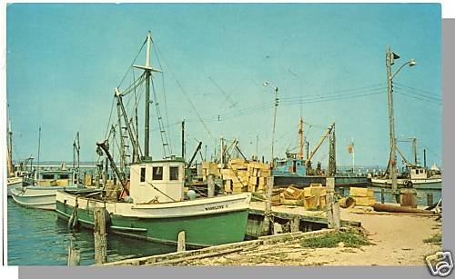 LONG ISLAND, NEW YORK/NY POSTCARD, Shinnecock Bay/Boats