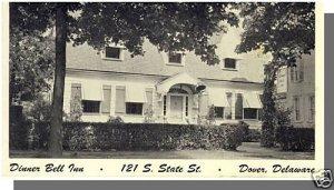 Nice DOVER, DELAWARE/DE POSTCARD, Dinner Bell Inn